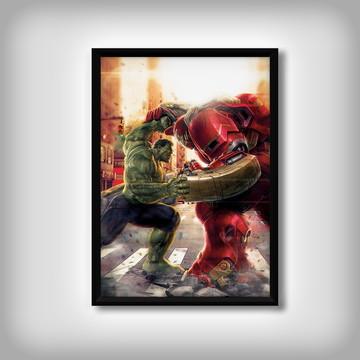 """Quadro do """"Hulk e Homem de Ferro"""""""