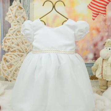 Vestido ano novo ou batizado branco só tam 2 e 4 anos
