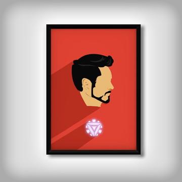 """Quadro do """"Homem de Ferro"""" Minimalista"""