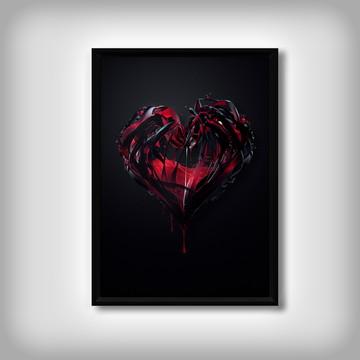 """Quadro """"Coração de Venom"""""""