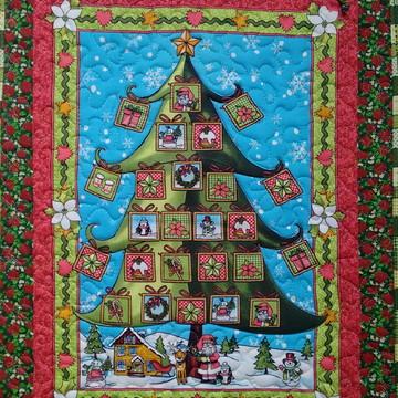 Painel Patchwork de Natal