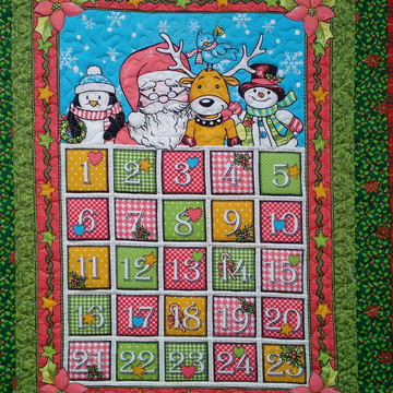 Painel Patchwork Calendario de Natal