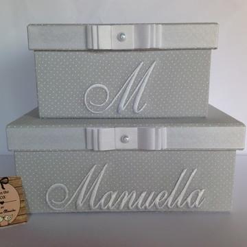 Conjunto de caixas Decorativas Cinza