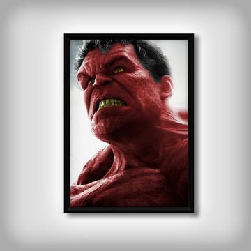 """Quadro do """"Hulk Vermelho"""""""