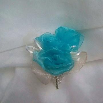 Arranjo de Flores em Organza Cristal- Tamanho 6cm