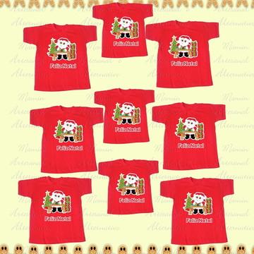 minimo 10 camisetas feliz natal papai noel presentes