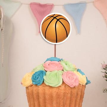 92f6258b8a585 Topo de bolo topper grande - bola basquete