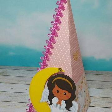 Caixa Pirâmide Batizado Menina
