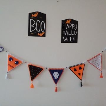 Varal de Bandeirinhas Halloween