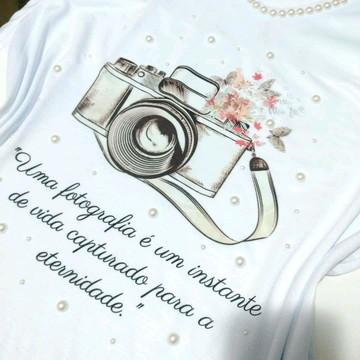 Camiseta Fotógrafo Personalizada com Pérolas