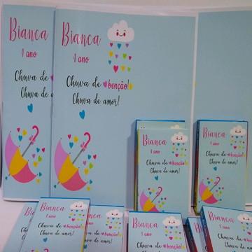 Livro de colorir chuva de benção