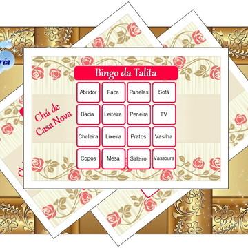 Bingo de Chá de Casa Nova para imprimir