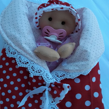 Boneca de pano-Bebê Fantoche