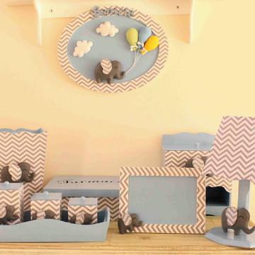 Kit para decoração de quarto de bebê - 10 peças