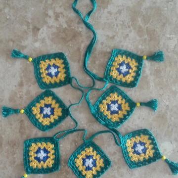 Varal de Bandeirinhas Brasil