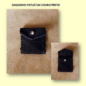 SAQUINHO PATUÁ EM COURO PRETO