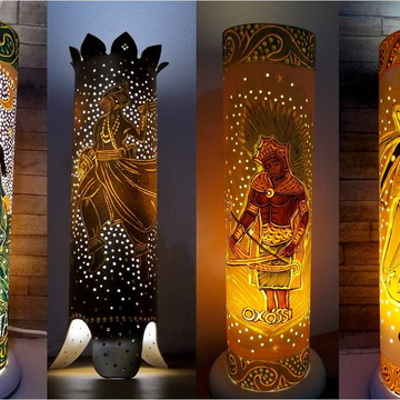 Luminária Orixás - Presentes de Umbanda