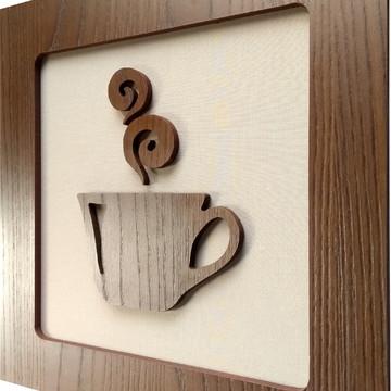 Quadro Decorativo para Cozinha Restaurante 30x30cm 1 un
