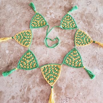 Varal de Bandeirinhas Decorativas Brasil