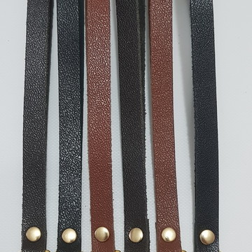 Alça de mão em couro com 20cm