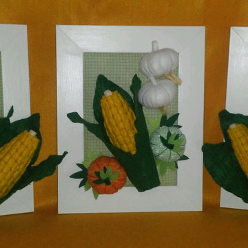 Kit quadros decorativos legumes