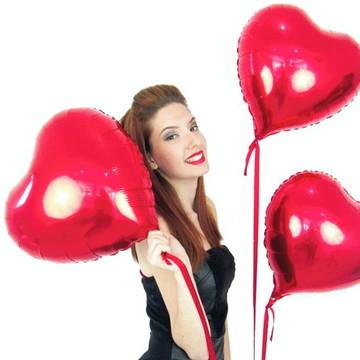 Kit 50 Balão de Coração Vermelho 45 Cm Decoração Casamento