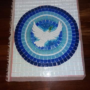 Mandala Divino Espírito Santo em mosaico