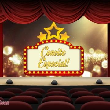 CONVITE ANIMADO VIRTUAL 15 ANOS CINEMA OU OSCAR