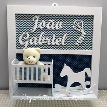 Placa decorativa infantil