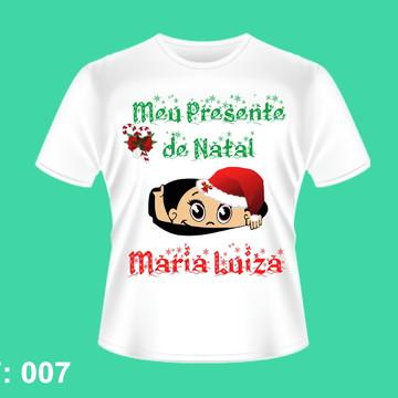 CAMISETA PERSONALIZADAS PARA GESTANTES NATAL NATALINA