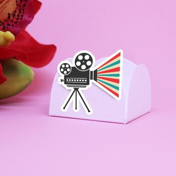 Forminha para doce - cinema - Hollywood - câmera