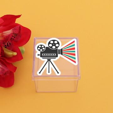 Caixinha de acrílico - cinema Hollywood câmera
