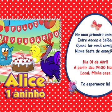 Convite Digital Galinha Pintadinha - Whatsapp R$ 15,00