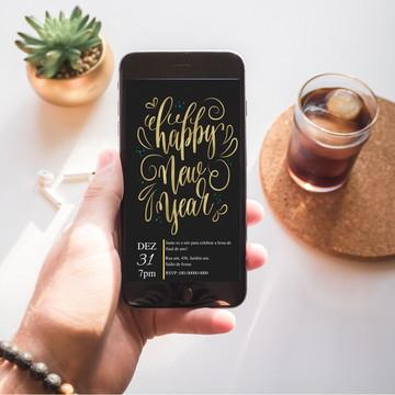Convite digital Ano Novo
