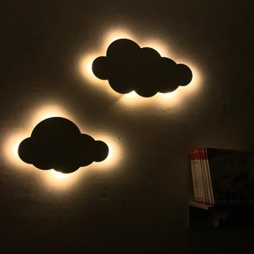 2 Nuvens Decorativas LED de Parede