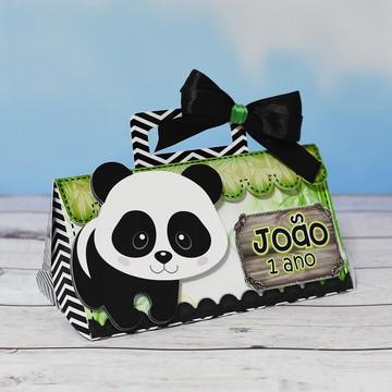 Caixa Bolsinha Ursinho Panda