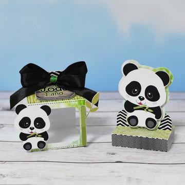 Suporte para caixa acrílico Ursinho Panda