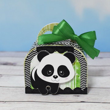 Caixa Mini Maletinha Ursinho Panda
