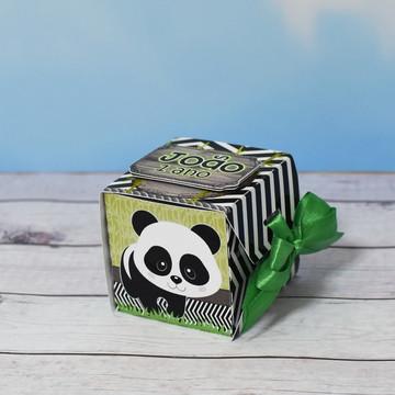 Caixa Cubo Ursinho Panda