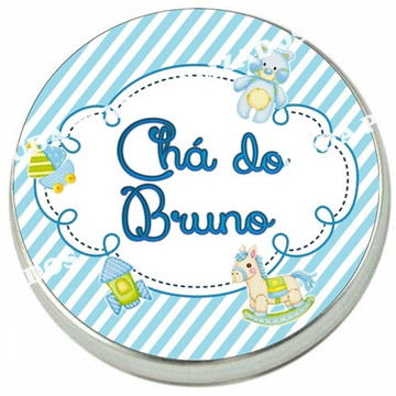 Adesivo para latinha Chá de Bebê ou Chá de fralda