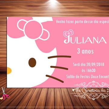 Convite Hello Kitty digital