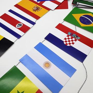 Varal de bandeirinhas - Copa do Mundo