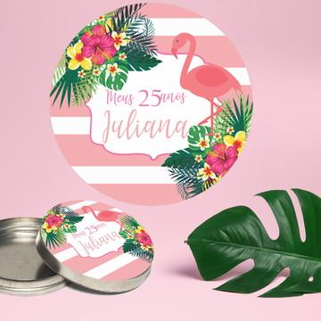 Adesivo para latinha mint to be flamingo