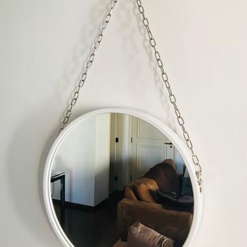 Espelho Adnet com corrente com 40 cm de diâmetro