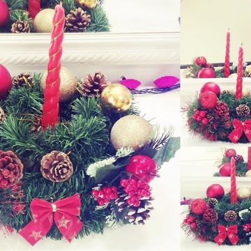 Arranjo De Natal Com Vela Decoração