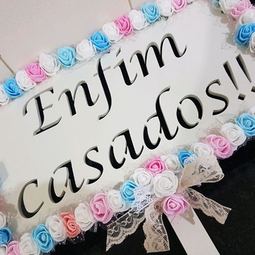 Placa ENFIM CASADOS