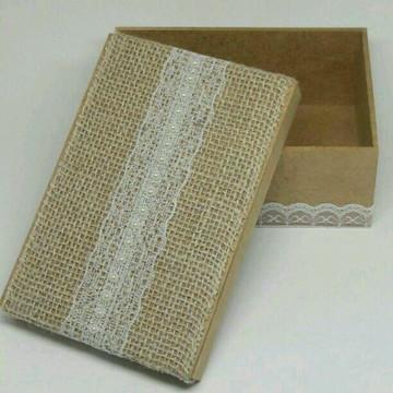 Caixa presentes madrinhas 10x15 rústica