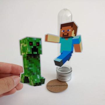 Apliques para tubete 13cm - Minecraft