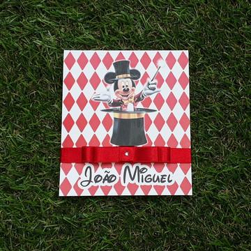 Convite Infantil Mickey Circo Qualquer Tema