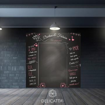 Painel Chalkboard Casamento para fotos